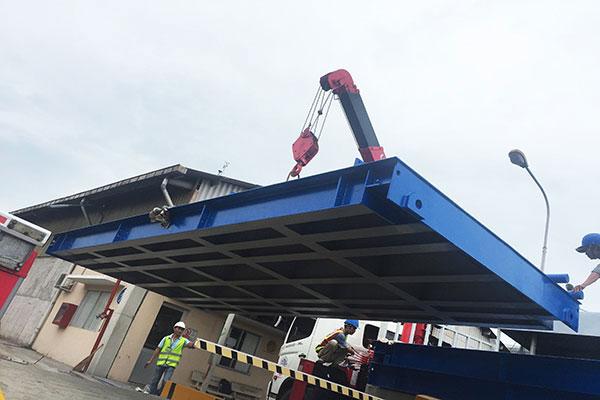 Khung bàn cân xe tải 80 tấn