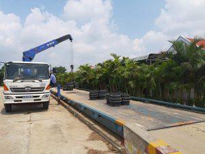 Trạm cân xe tải 100 tấn kiểu nổi